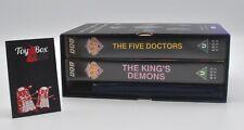 Doctor Dr.Who Collectors' BBC Ltd Edition Five Doctors/Kings Demons~Excellent