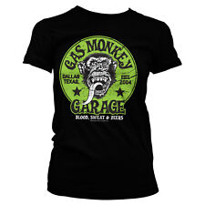 Officially Licensed Gas Monkey Garage- Green Logo Women's T-Shirt S-XXL Sizes