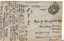 Genealogy Postcard - Knightbridge - Monkey Farm House, Sheerness on Sea - 5400A