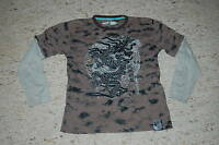 """Cooles Langarmshirt khaki  Gr. 146/152 """"Here + There by C&A"""""""