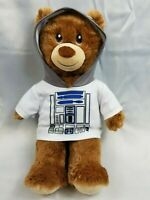 "Build A Bear Workshop Tan/R2D2/Shirt/Marvel Plush Teddy Bear 16"" BABW EUC 2016"