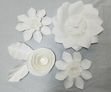 Large Wall 3D Paper Flower 6 Piece Set Decoration Backdrop