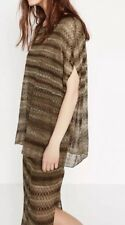 Zara Linen Crochet Lace Boat Neck Tunic Top Kaftan Size S - M - L - XL BNWT