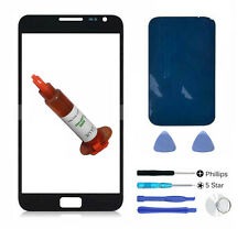 Black glass lens screen Galaxy Note replacement N7000 LOCA glue Adhesive Tools