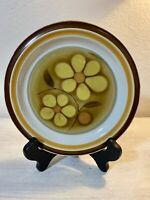 "Vintage Floral Mid Century Modern 1970s Set of 5 Dessert Bread Plates 7.5"" JAPAN"