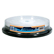 10 Optical Quantum 2x 25GB Blu-ray BD-RE Rewritable White Inkjet OQBDRE02WIP-10