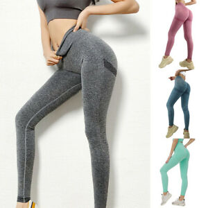 Yoga Leggings Pants High Waisted Seamless for Women Tummy Control Squat Proof