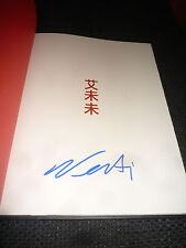 """Ai Weiwei SIGNED FIRMATO AUTOGRAFO in """"according to what?"""" libro inperson RARO"""