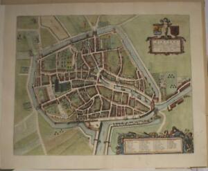 ZIERIKZEE NETHERLANDS 1649 BLAEU UNUSUAL ANTIQUE ORIGINAL COPPER ENGRAVED VIEW