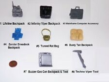 Vintage GI Joe Backpacks Weapons and Tools Accessories Lot