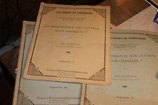 plattard / renaissance des lettres sous francois 1 Les Cours de Sorbonne 3 vol