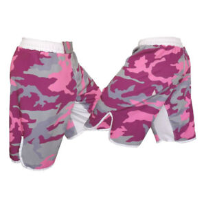 Pink Camo MMA Fight Shorts