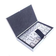 Mini Aluminum Traveling Engraved Metal Dominoes 28 Game XMAS GIFT SOUVENIR