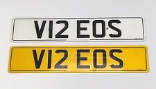 V12 EOS PRIVATE NUMBER PLATE - ON RETENTION CERTIFICATE
