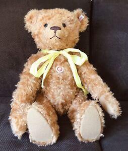 """STEIFF LIMITED EDITION TEDDY BEAR # 037054 ~ 2006 RED MOHAIR ~ 23"""" + BOX + COA"""