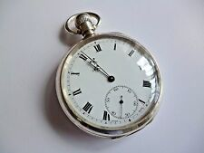 Antique Zenith Sterling Silver pocket watch c.1923 *Superb example*