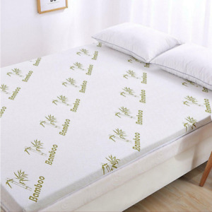 Thick Quality Bamboo Memory Foam Mattress Soft Cozy Comfortable Topper All Sizes