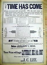 <Rare 1895 HOWARD South Dakota MINER CO newspaper w Lrg POSTER AD Lee's Store