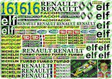 Decals 1/8 R.Arnoux Renault RE20 1978+++D53--Rarität