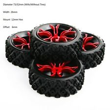 4X RC 1:10 Tyre&Wheel 12mm Hex 73mm Rally For HSP HPI Off Road Racing car MPNKR