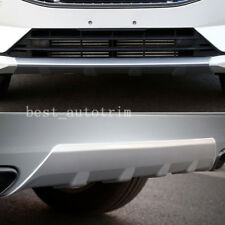 ABS Plastic Front&Rear Bumper Protector Skid Plate 2pcs For Volvo XC60 2018-2020