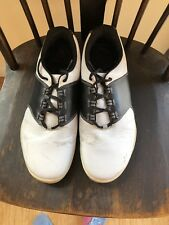 Brand TRUE Linkswear Spikeless Golf Shoes Men's 9.5 Wide Used Black And White