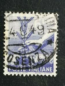 REPUBBLICA 1945 DEMOCRATICA LIRE 6 FILIGRANA LETTERE