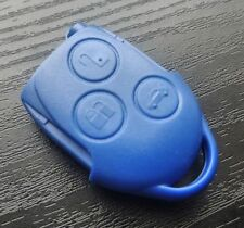 NEW CASE SHELL FOR FORD TRANSIT CONNECT MK7 BLUE REMOTE KEY FOBS 3 BUTTON +LOGO