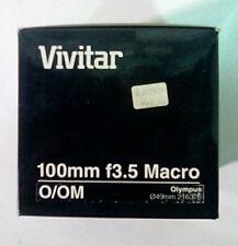 Vivitar 100mm/f3.5 Macro Lens for Olympus (BRAND NEW!)