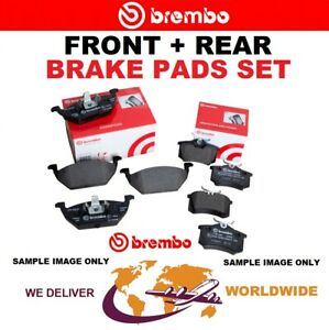 BREMBO FRONT + REAR Axle BRAKE PADS for TOYOTA CAMRY SOLARA Coupe 3.3 2003-2008