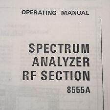 HP 8555A Spectrum Analyzer Operating Manual
