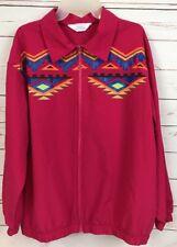 BLAIR BOUTIQUE Aztec Print Colorful Bright Windbreaker Jacket Nylon Sz 3XL (R-5)