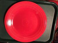 4 Fiesta Red Scarlet 10 1/2 Inch Dinner Plates Mint