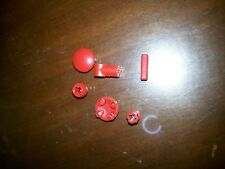 Non-Lego LOT of Bricks - Red Color 6 pieces - Check Below