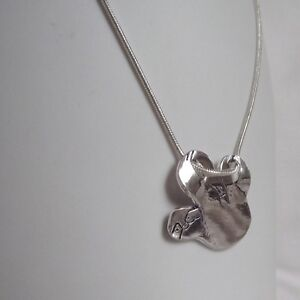 Stunning Handmade Solid Silver Hanging Sloth Pendant Necklace Unique Jewellery