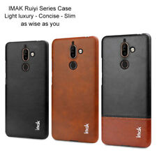 For Nokia 7 Plus Luxury Shockproof Classic Business Leather Slim Back Case Cover
