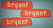 3 Lot 1960's Bryant Furnaces Racing NASCAR Indy Car CART Sponsor Large Patches