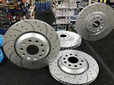 VW GOLF R MK7 GTi EDITION40 BRAKE DISCS CROSS DRILLED GROOVED BRAKE FRONT REAR