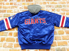 New York Giants Starter Retro Bomber USA Jacket NFL Vintage Blue Size: M Like