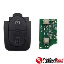Sender Auto Schlüssel 433,92 MHz AUDI 4D0837231R 2 Tasten Gehäuse Sendeeinheit