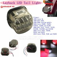Layback LED Tail Light Brake W/ License Plate Lamp For Harley FXLR FLHC 18-Later