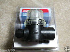 "Shurflo RV Water Pump In-Line Strainer/Filter 1/2"" Male NPSM Inlet"