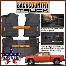 BackCountryTruck 2014-2018 Chevy Silverado Crew Cab Front & Rear Seat Floor Mats