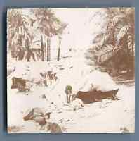 Egypte, Campement de Bicharins  Vintage citrate print. Vintage Egypt.  Tirage