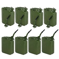 8pcs 20L Jerry Can  5 Gallon Backup Steel Tank Fuel Gasoline Military Green