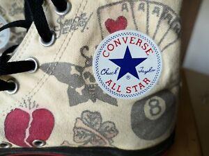 "Converse Sneaker chucks 44 / 10 limited Edition Art ""death or glory""  neuwertig"
