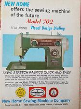 1970 Vintage New Home Model 702 Sewing Machine Original Ad