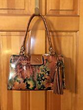 Patricia Nash Heritage Multicolor Rienzo Leather Satchel Ret. $229 Nwt