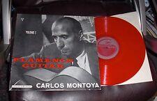CARLOS MONTOYA Flamenco Guitar Volume 1 Stinson SLP 3 EX Malaguena RED VINYL