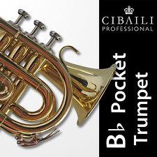 CIBAILI Bb POCKET TRUMPET • Highest Quality • Plays like a full-size trumpet •